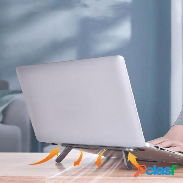 1 pc base de suporte dobrável de metal para laptop antiderrapante suporte para notebook portátil de mesa suporte de resf