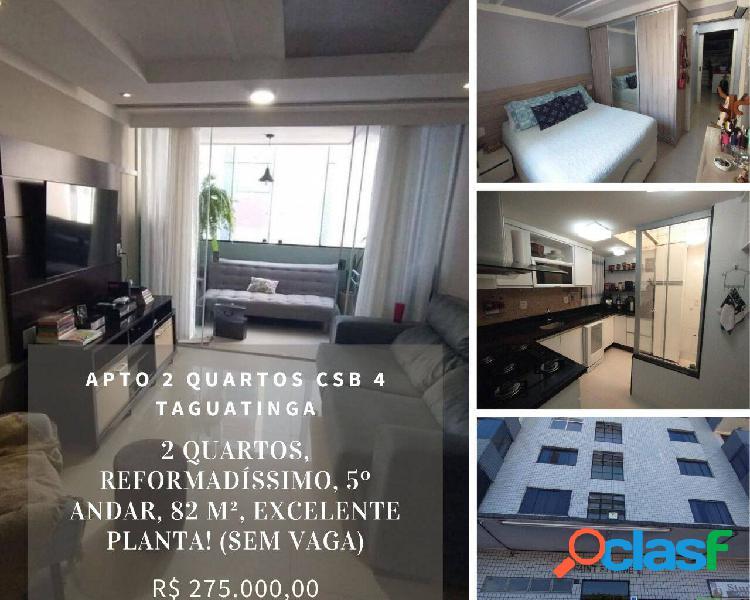 Apto 2 quartos, 82 m², saint etienne ii - taguatinga/df