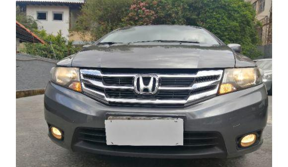 Honda city 1.5 lx automatico 13/14 cinza