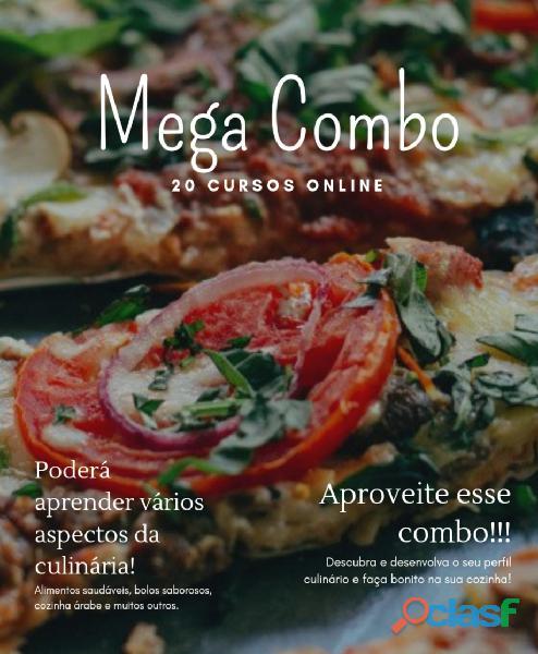 Mega combo 20 cursos online (culinária)