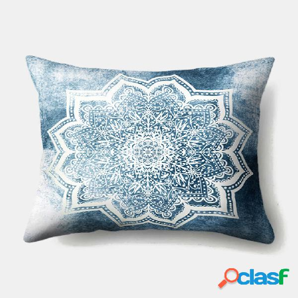 1 pc datura impressão fronha decoração da casa sofá sala de estar capa de almofada de lançamento de carro