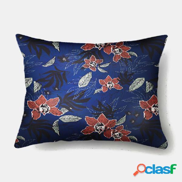 1 pc com impressão de sobreposição floral fronha decoração de casa, sofá, sala de estar, capa de almofada de lance de ca