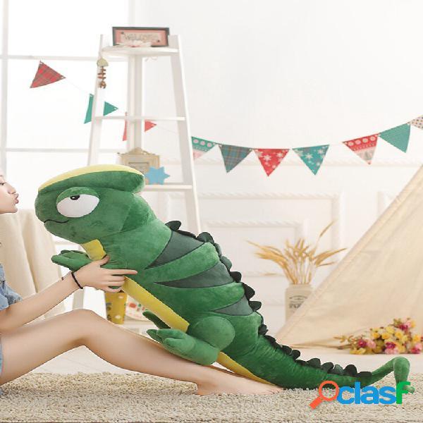Lagarto de brinquedo de pelúcia camaleão de tamanho grande, criativo, engraçado, soft, almofada animal, recheado, boneca