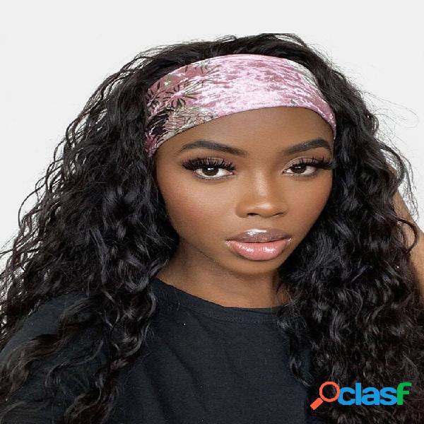 30 cores feminino turbante cabelo banda pequeno encaracolado explosivo cabeça completa cobertura peruca banda