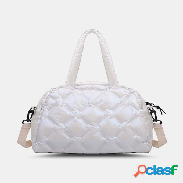 Bolsa feminina moda nylon algodão enchendo grande capacidade bolsa ombro crossbody bolsa