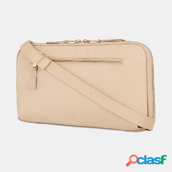 Laptop de grande capacidade com vários bolsos bolsa à prova d'água nylon crossbody bolsa embreagens bolsa carro bolsa