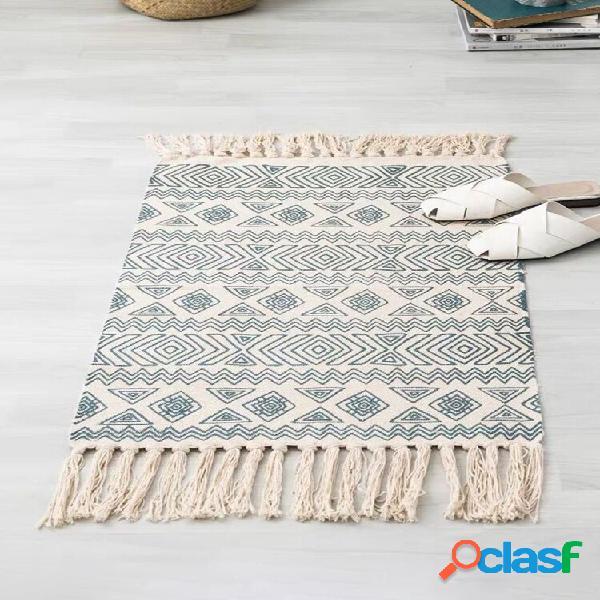 Tapete estilo étnico bohemia tapete tapete tapete tapete antiderrapante banheiro tapetes tapetes para sala de estar lava