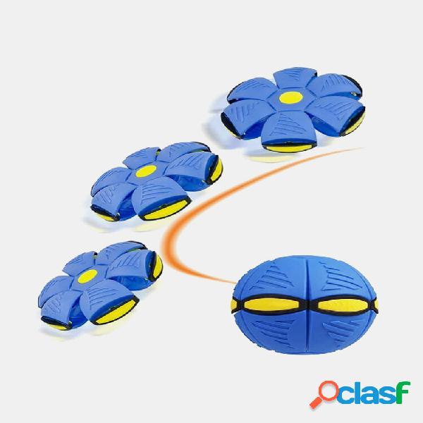 1 pc com bola de disco de lançamento plano de ovni voador com led jogo de jardim ao ar livre para criança de mini deform