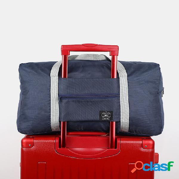 1 pc multifuncional portátil grande armazenamento para viagem bolsa bolsa de mão dobrável à prova d'água