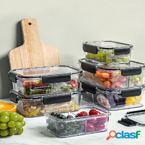 1pc 2/3 grid multifuncional grande capacidade transparente conservação fresca selada cozinha frigorífica com sabor armaz