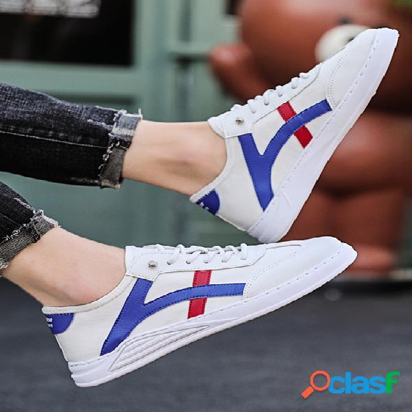 Moda masculina estilo coreano bloco de sapatos casuais