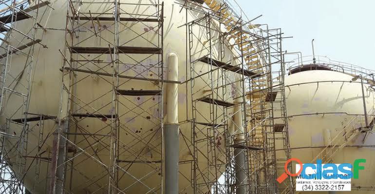 Andaimes para obras industriais Nova Andradina MS