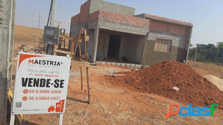 CASA EM CONSTRUÇÃO NO BAIRRO RESERVA JARDIM EM SORRISO-MT