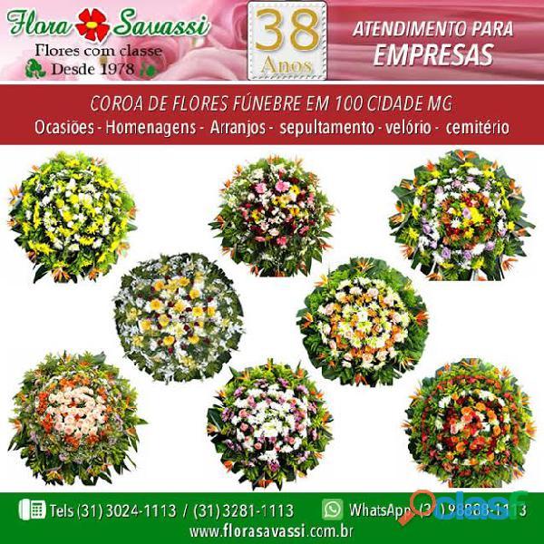 Contagem, Santa Luzia, BH, Nova Lima e Sabará MG, floricultura coroa de flores entrega coroa Flora