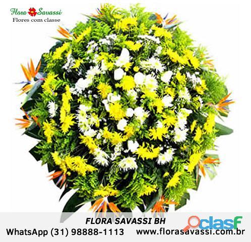 Taquaraçu de Minas, Vespasiano, Raposos MG, floricultura coroa de flores entrega coroa fúnebre Flora