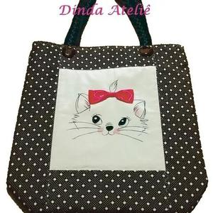 dccac8a10 Bolsa tecido patchwork professora gatinha em Brasil 【 REBAIXAS Maio 】 |  Clasf moda-e-beleza